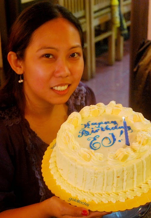 Girl Travel Holding Birthday Cake
