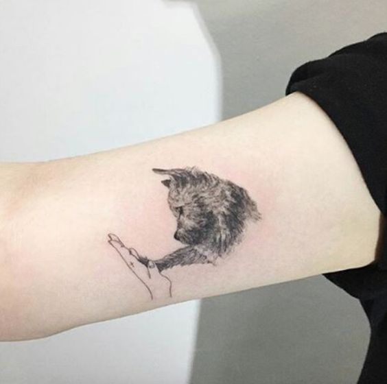 Cutest dog tattoo for girls