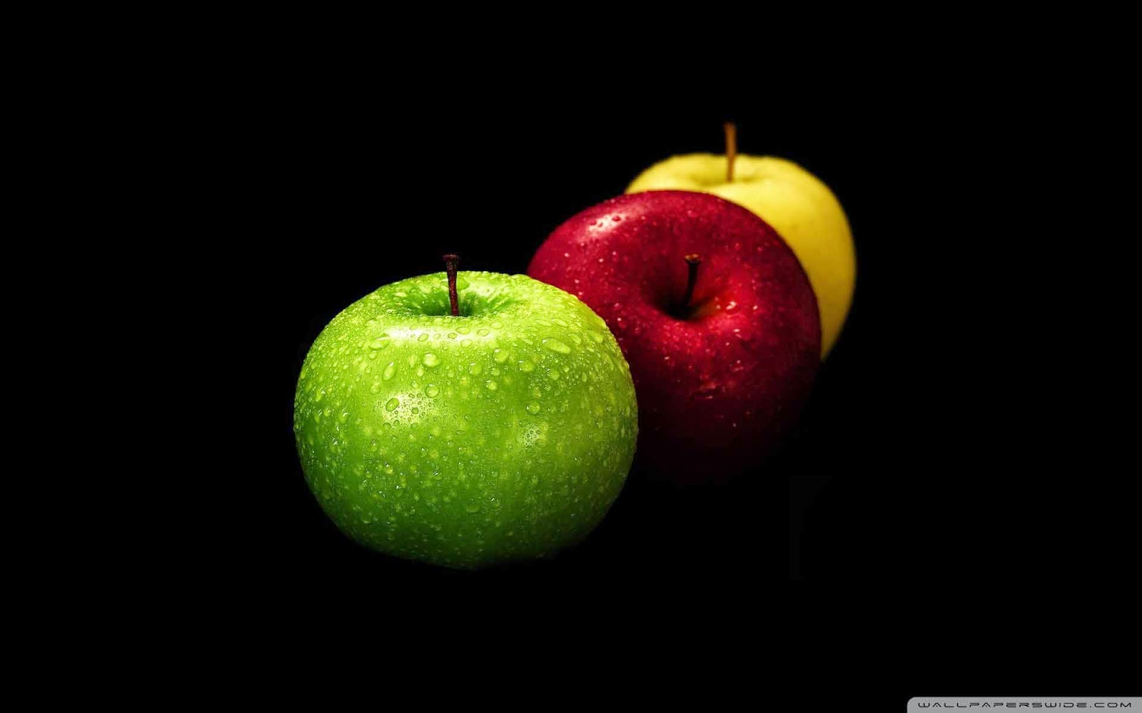 yellow red and green apples wallpaper