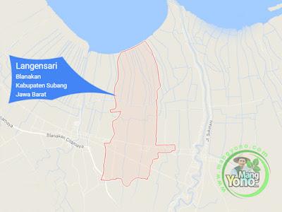 PETA : Desa Langensari, Kecamatan Blanakan