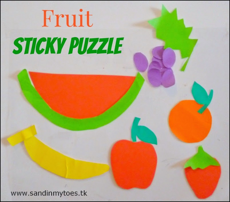Busy Hands: Fruit Sticky Puzzle | Sand In My Toes