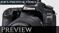 Canon EOS 80D Digital SLR Camera - Plus 70D Comparison | Preview