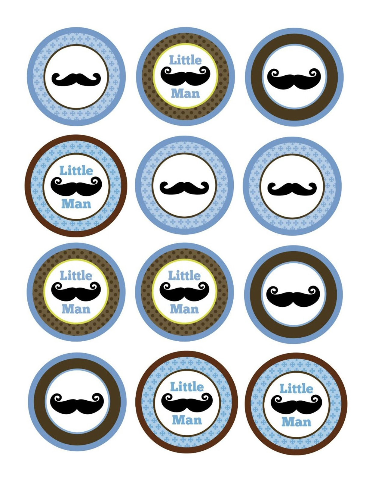 Mustache Cupcake Toppers Fun Express Mustache Food And