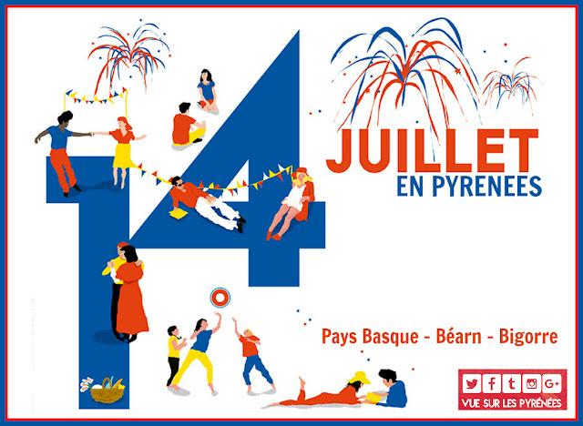 Fête du 14 juillet Pyrénées 2017