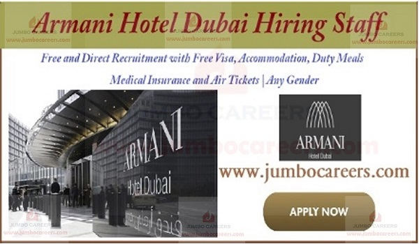 Current Dubai hotel jobs with accommodation, Recent job openings in Dubai,
