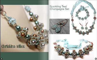 interior page of Creative Spark glossi featuring Christina Miles Champagne necklace set