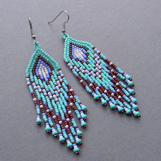 купить серьги из бисера купить оригинальные украшения для женщин