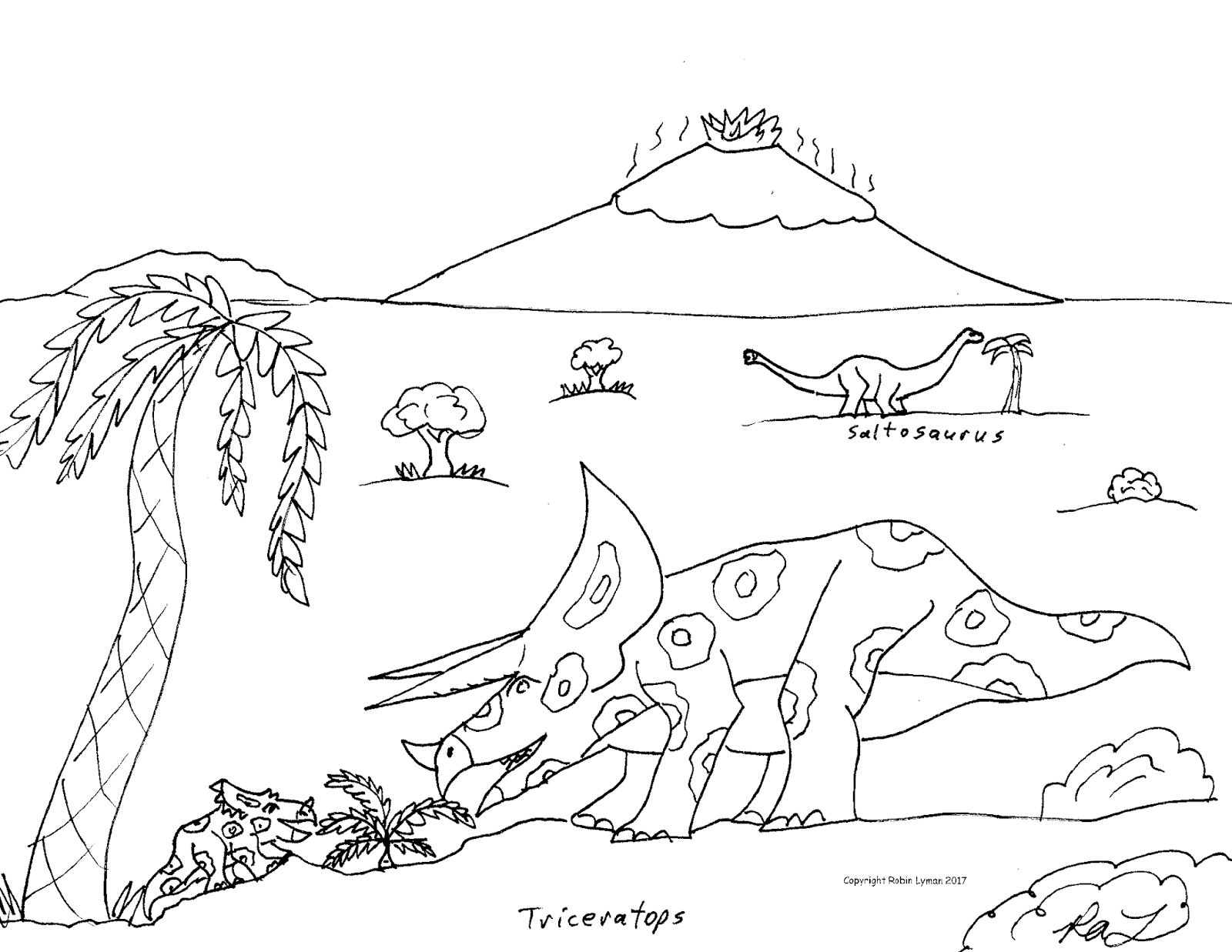Robin's Great Coloring Pages: Ceratopsian or Horned ...