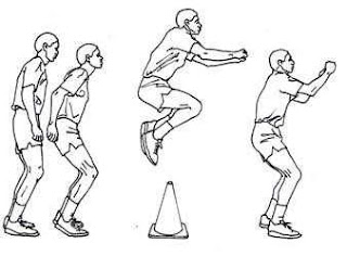 Standing jump dengan variasi standing jump over barrier
