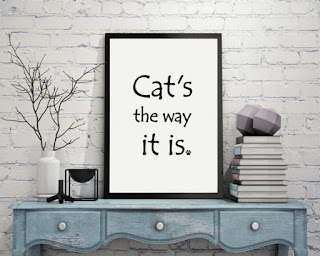 International Cat Day: Cat's The Way It Is poster print by Nature's Pals on Etsy | MyCatSylvia.com