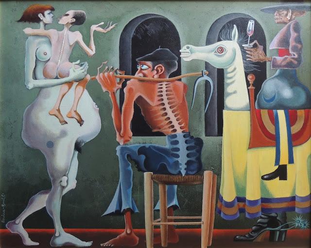 Rovira Brull pintura surrealista quijote caballos España