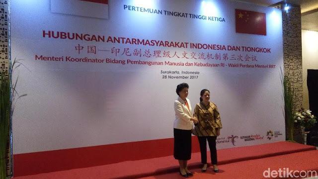 Semakin Masif, Diwakili Menko Puan, Indonesia Teken 6 MoU dengan Tiongkok