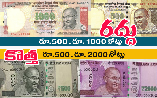 Rs 500 and Rs 1000 Notes Banned from Tonight