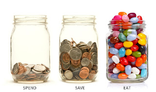 Spend, Save, Eat Jars