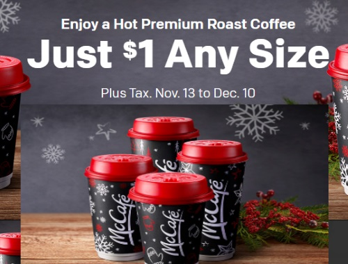 Mcdonalds Hot Premium Roast Coffee $1