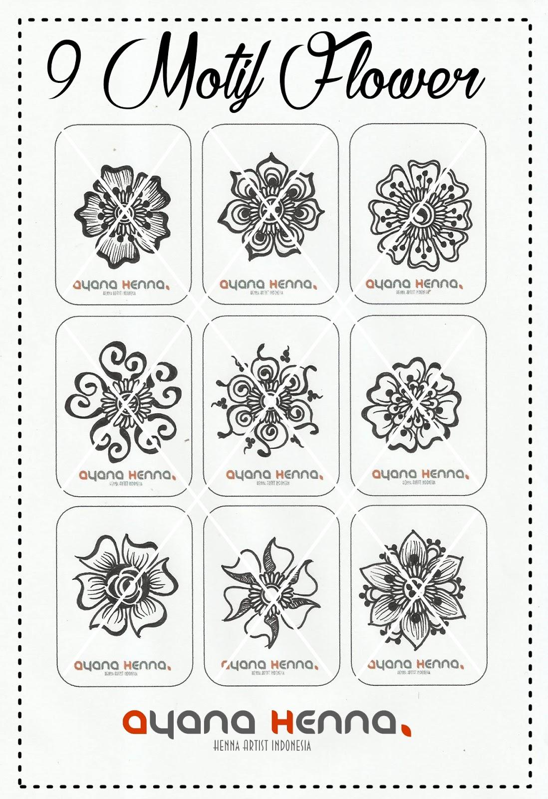 9 Motif Bunga Ayana Henna