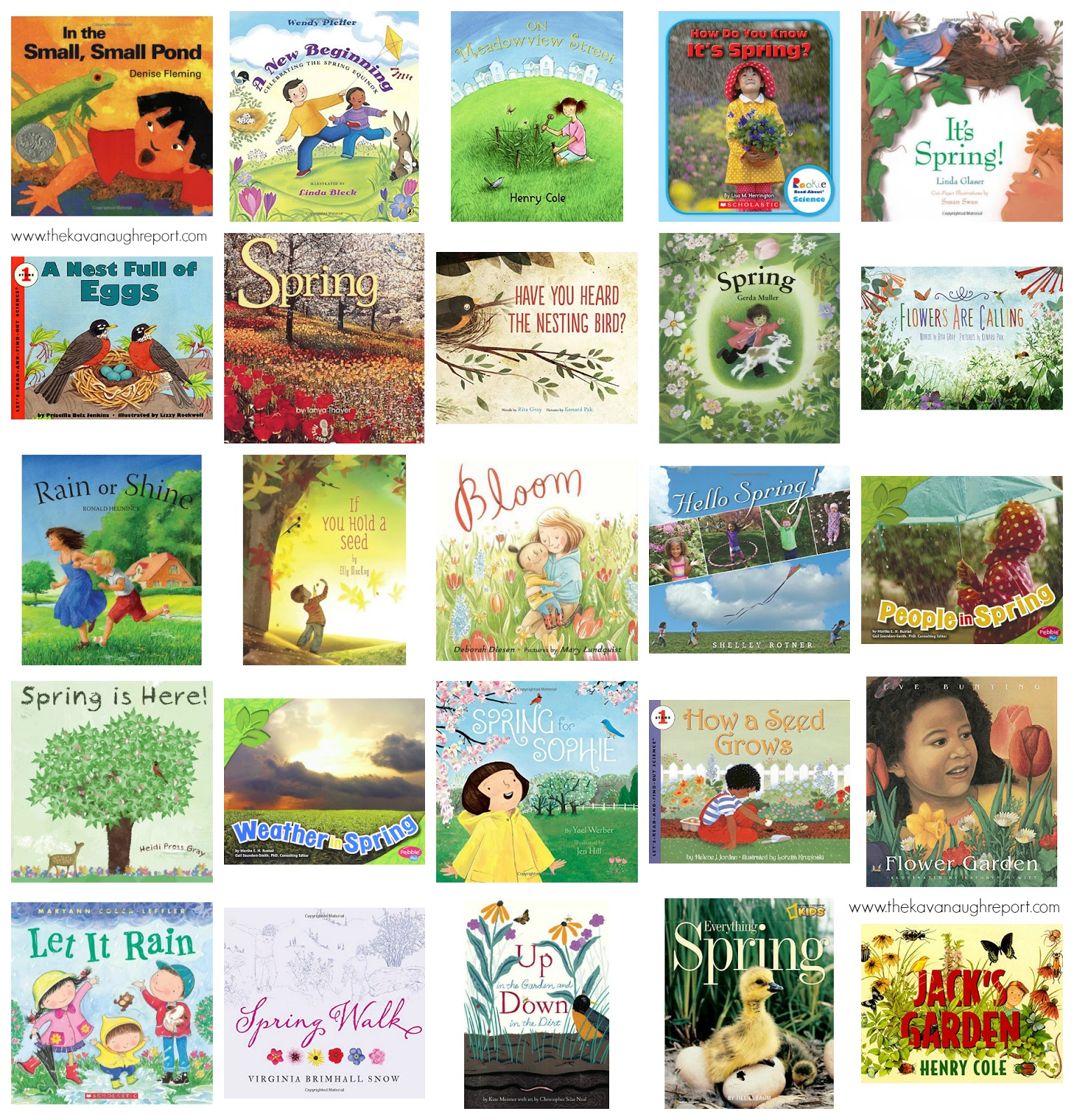 25 Montessori friendly children's books for spring. These books are great introductions to the spring season for young children.
