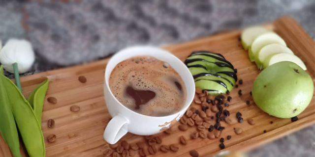 kırmızı ve yeşil elmada kahve pişirme, www.kahvekafe.net