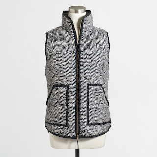 J. Crew Factory Printed Quilted Puffer Vest $35 (reg $108) - lowest price!