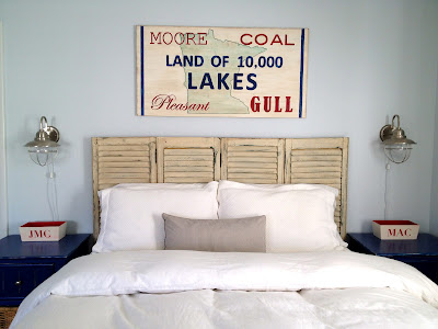 minnesota sign above bed