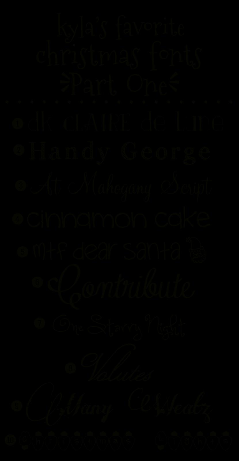Christmas Fonts.Funky Polkadot Giraffe Kyla S Favorite Christmas Fonts