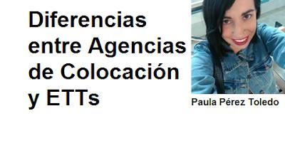 Diferencias entre Agencias de Colocación y ETTs. España