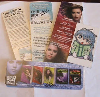 Two sets of autographed bookmarks and a Street Team ID card!