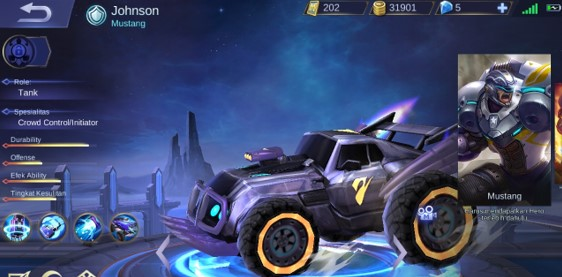 Johnson Hero Mobile Legends Overpowered