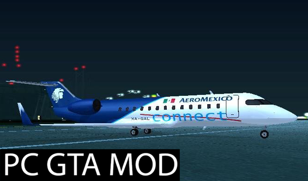 Free Download Buckingham Starjet (Civilian Miljet) Aeromexico Connect Mod for GTA San Andreas.