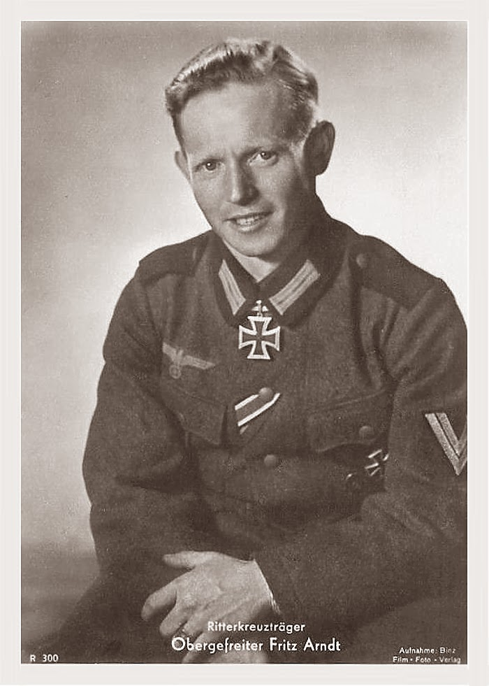 Fritz Arndt Ritterkreuzträger Knight Cross Holder Postcard