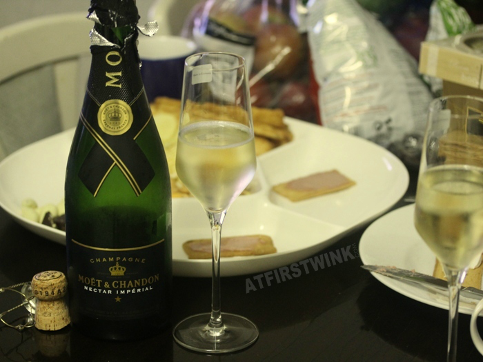 Moët & Chandon Champagne nectar impérial new year's eve 2014