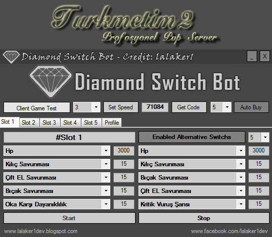 Turkmetin2.com İçin Diamond Switch Efsun Botu