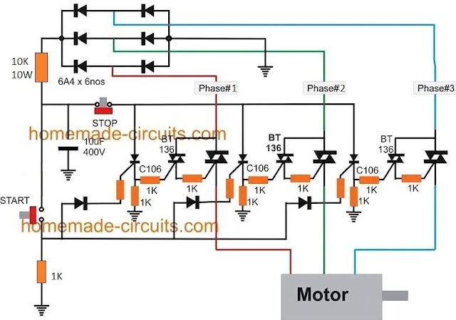 solid state contactor circuit using triacs, SCRs