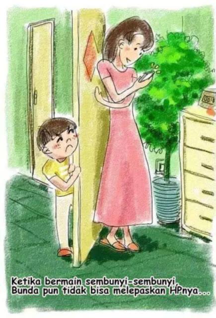 """Sedih! 8 Ilustrasi Menusuk Bagi Orangtua yang """"Lebih Memilih Ponsel"""" Ketimbang Memperhatikan Anaknya Ini Bisa Bikin Kamu Tepukul!"""