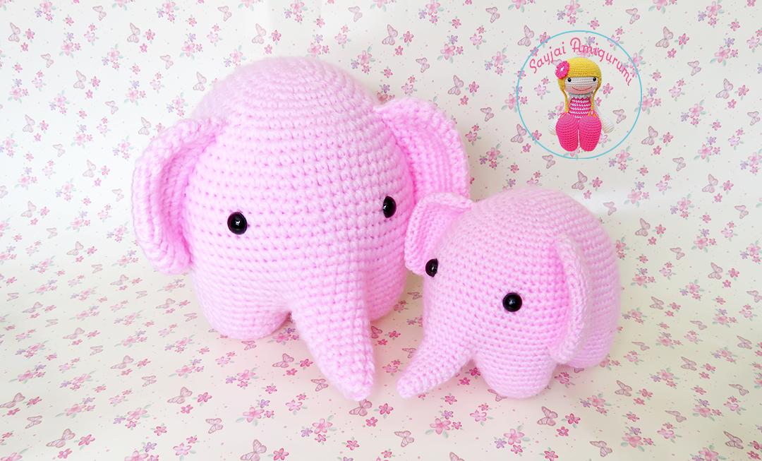 Amigurumi Patterns Elephant : Elephant sayjai amigurumi crochet patterns k and j dolls k