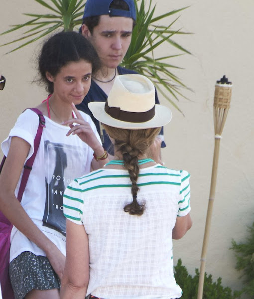 Princess Elena of Spain and her children Felipe Juan Froilan Marichalar and Victoria Federica Marichalar