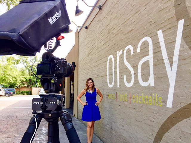 Amy West behind the scenes at Orsay with Wander Jacksonville