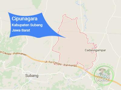 PETA : Kecamatan Cipunagara, Kabupaten Subang, Jawa Barat