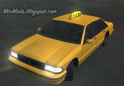 placa de taxi com luz gta sa mod