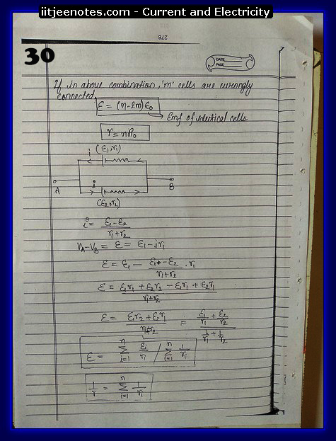 Current and Electricity Notes cbse5