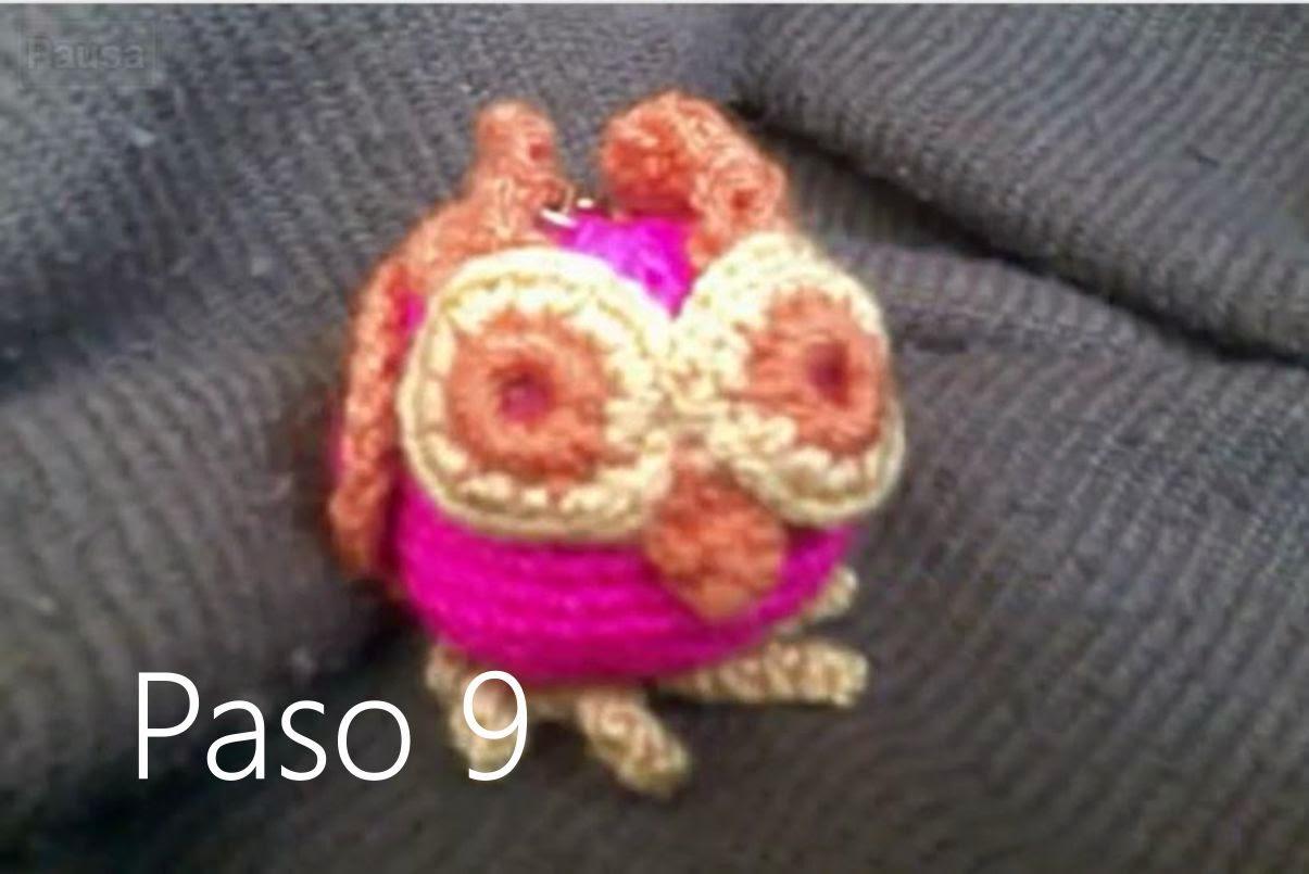 Buho Amigurumi a Crochet Paso 9
