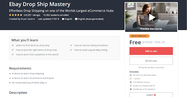 100% OFF Coupon | Ebay Drop Ship Mastery | Iftikhar University