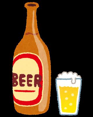 ビールのイラスト「瓶ビール」