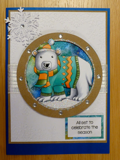 Cool Polar bear  christmas card