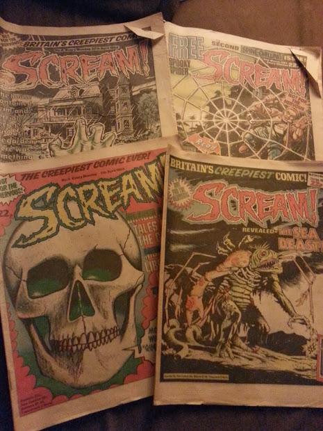 Kim Thompson Illustration 'scream ' Vintage Horror Comics