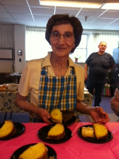 Residents of Nazareth Villages enjoy a potluck luncheon