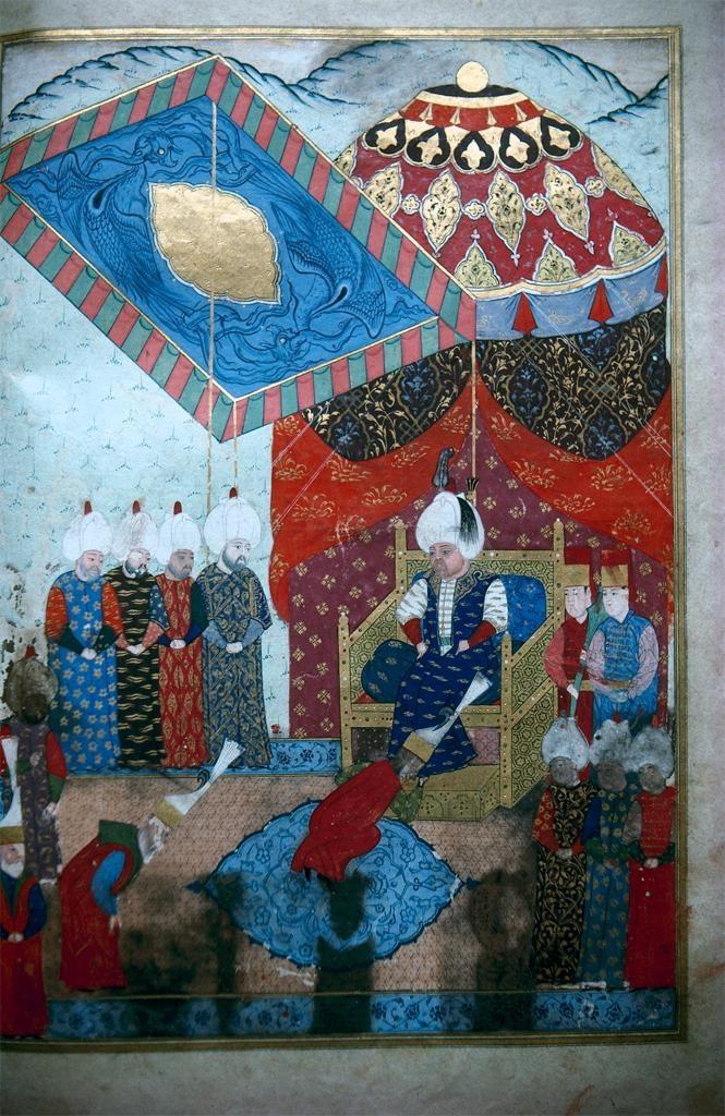Selim II Enthroned