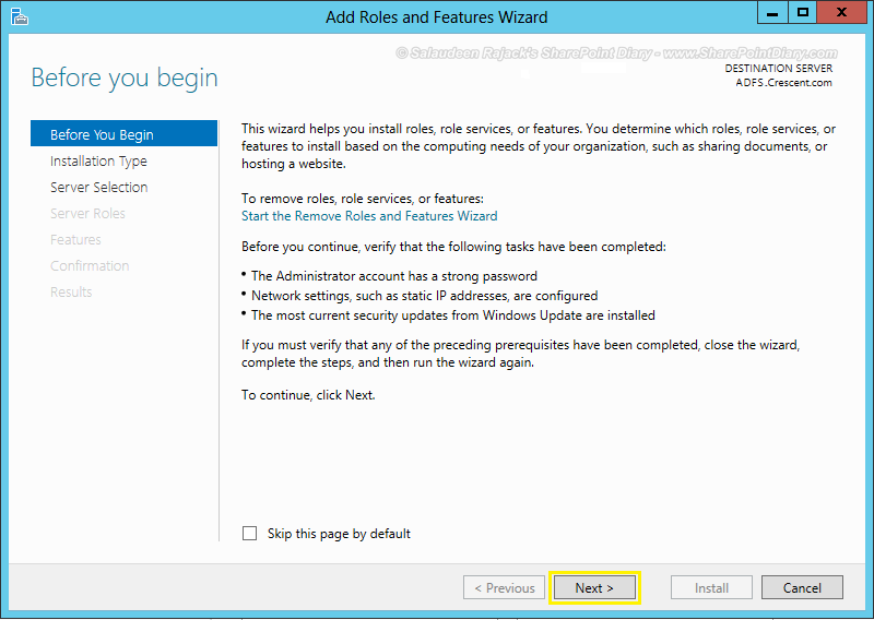 Installing ADFS Integration with SharePoint