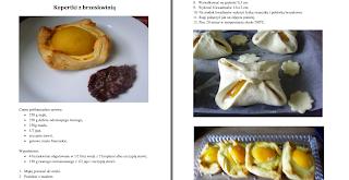 Wnętrze e-booka – kopertki z ciasta francuskiego z brzoskwinią