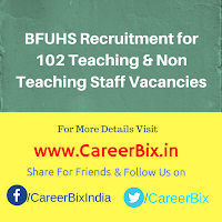 BFUHS Recruitment for 102 Teaching & Non Teaching Staff Vacancies